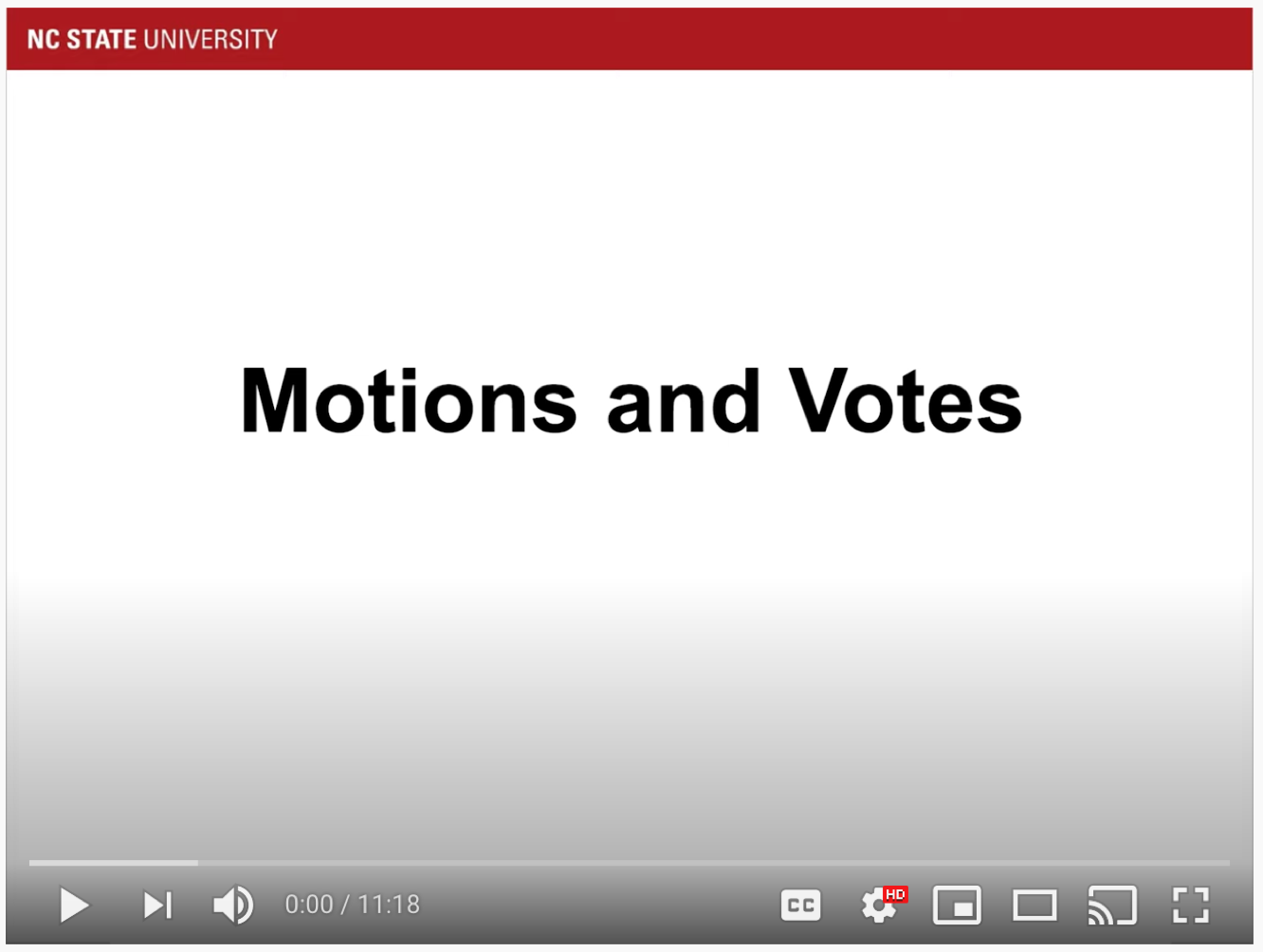 video thumbnail motions and votes